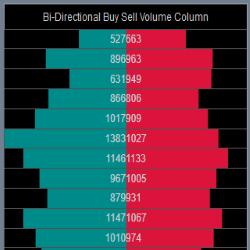 Bi-Directional Buy Sell Volume Super DOM Column